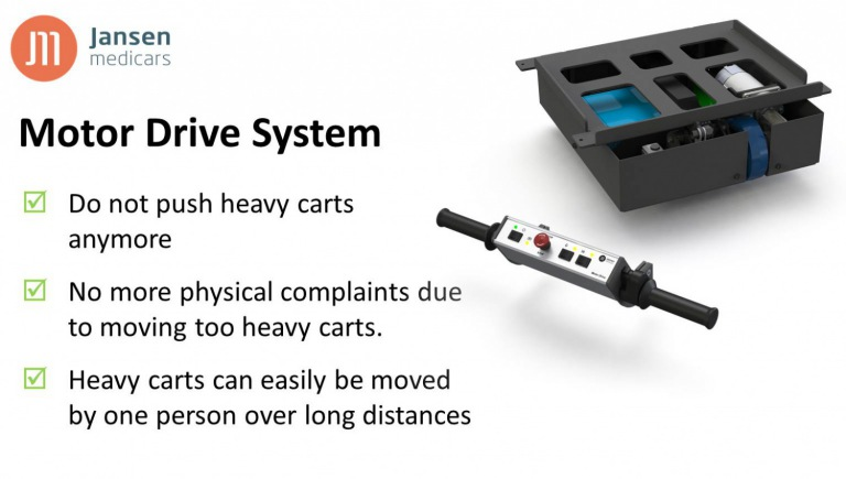 Motor Drive System for Crozz three 2G medical equipment cart